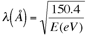 equation for wavelength of an electron