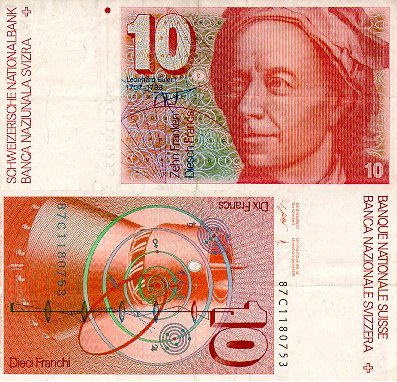 Leonhard Euler on Physicists On The Money